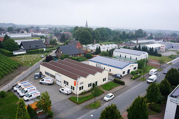 Gebäudekomplet der Firma Germes in Geldern-Walbeck