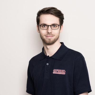 Mitarbeiter Niklas Tegler von Germes