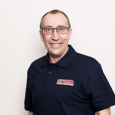 Mitarbeiter Helmut Kruss bei Germes